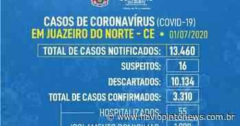 Juazeiro tem 3.310 casos confirmados da Covid-19 e 87 óbitos - Flavio Pinto