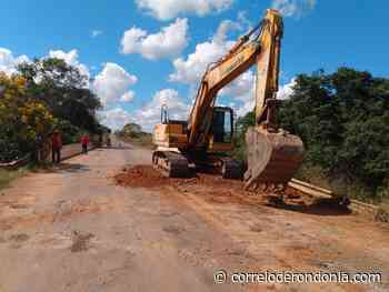 Regional do DER em Jaru recupera ponte sobre o rio Soledade - Correio de Rondônia