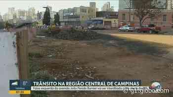 Obra do BRT interdita faixa de avenida na região central de Campinas a partir desta quinta-feira - G1