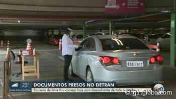 Detran monta drive-thru para entregar documentos parados em Campinas, SP - G1