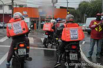 Entregadores de app protestam em Campinas - Correio Popular