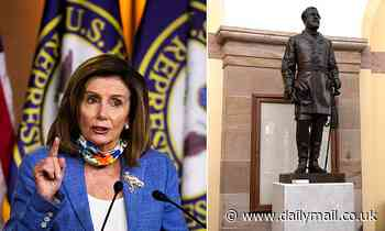 Pelosi said statues of men who 'committed treason' have to go but slave-owning presidents can stay