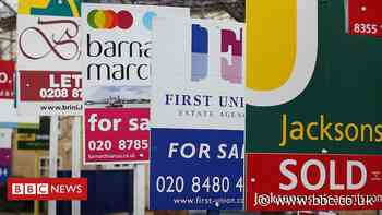 UK house prices 'in first annual fall for eight years'
