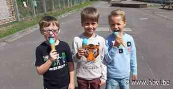 Kleuters methodeschool Ondersteboven sluiten schooljaar af met ijsjes - Het Belang van Limburg