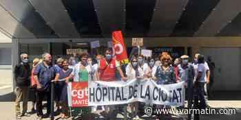 Nouvelle manifestation devant le centre hospitalier de La Ciotat - Var-Matin