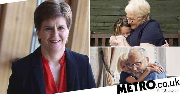 Grandparents in Scotland can finally hug their grandkids on Friday