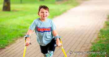 Boy so badly abused he lost legs raises £1million in Captain Tom inspired walk