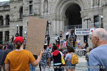 PHOTOS: Dual rallies take over Legislature lawn on Canada Day - Creston Valley Advance