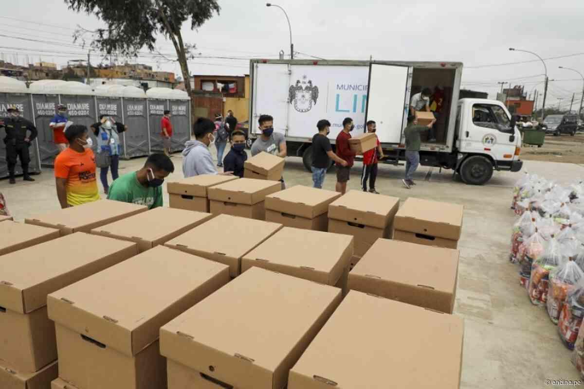 Municipalidad de Lima entregó víveres y útiles escolares a comunidad de Cantagallo - Agencia Andina