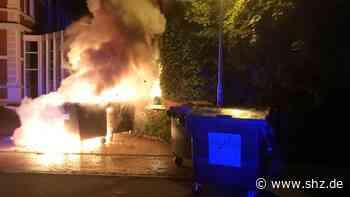 Einsätze am Donnerstagmorgen: Brandserie in Rendsburg-Neuwerk setzt sich fort: Vier Müllcontainer in Flammen | shz.de - shz.de