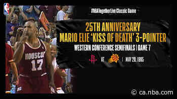 #NBATogetherLive: Mario Elie's 'Kiss of Death' three-pointer completes Rockets 3-1 comeback vs. Suns in 1995 playoffs - NBA CA