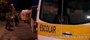 Motoristas de vans escolares fazem protesto na capital paulista - Mobilidade Sampa
