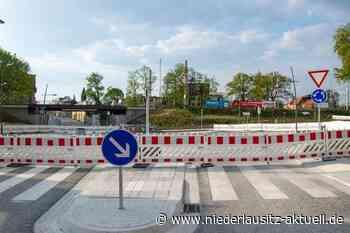 Neuer Kreisverkehr in Finsterwalde wird gestaltet. Zweitweise Sperrungen - NIEDERLAUSITZ aktuell