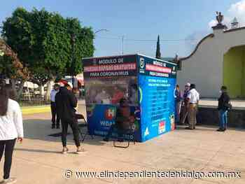 Instalan en Mixquiahuala módulo de pruebas rápidas - Independiente de Hidalgo