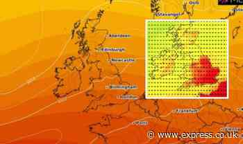 UK hot weather: When is the heatwave coming back? Maps pinpoint next heatwave date - Express.co.uk