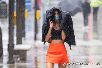 Weather forecast – 'Super Saturday' celebrations set to be a washout with UK braced for MONTH of rain to hit i - The Sun