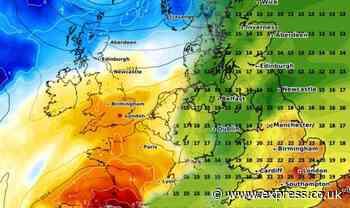 UK hot weather: Return of sizzling sun in 26C July heatwave - MAPPED - Express.co.uk