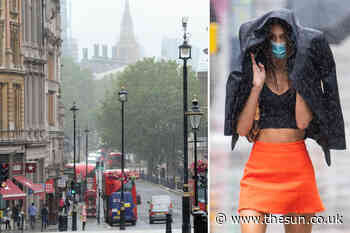 UK weather forecast – UK to get battered by five inches of rain and wind just a week after hottest day of the - The Sun