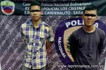 Dos funcionarios caen detenidos por robo en Sarare - La Prensa de Lara