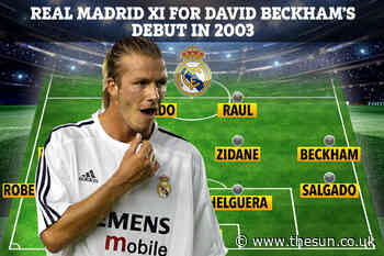 Where are David Beckham's team-mates from 2003 Real Madrid debut including Makelele, Figo and current boss Z - The Sun
