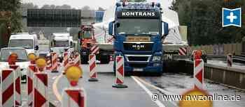 Baustelle Zwischen Bürgerfelde Und Nadorst: Autobahn 293 Richtung Brake wird gesperrt - Nordwest-Zeitung