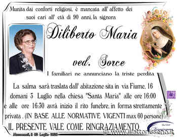 Diliberto Maria Ved.Sorce - il Fatto Nisseno