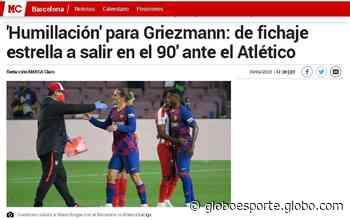 """Do sorriso amarelo de Simeone ao desabafo do pai: """"humilhação"""" de Griezmann no Barcelona repercute - globoesporte.com"""