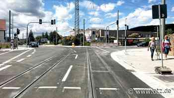 Naumburger Straße in Jena teilweise wieder freigegeben