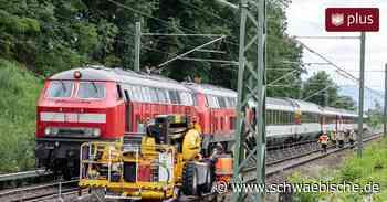 Eurocity stößt auf Fahrt von Lindau nach München gegen eine Baumaschine - Schwäbische