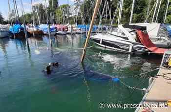 THW Bayern: Bergung einer gesunkenen Segeljacht - THW Lindau unterstützt Polizei und Feuerwehr... - Presseportal.de