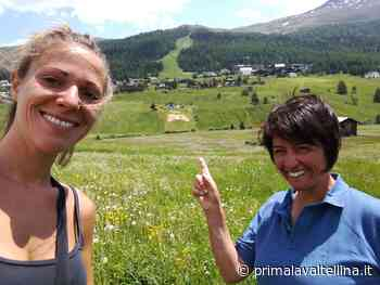 Un enorme cuore tricolore a Livigno - Prima la Valtellina