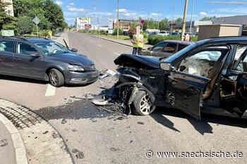Zwei Verletzte bei Unfall in Heidenau - Sächsische Zeitung