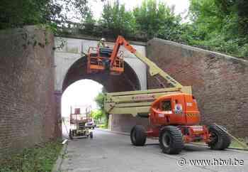 Vangnetten onder spoorbrug moeten vallende stenen opvangen (Bilzen) - Het Belang van Limburg