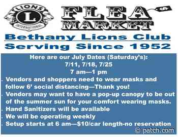 Bethany Lions Club - Weekly Flea Market Opening - July 11th - Patch.com