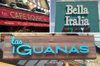 Bella Italia, Cafe Rouge and Las Iguanas: Full closure list