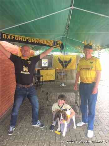 OXFORD UNITED: Fans build own pub garden for Portsmouth play-off semi-final
