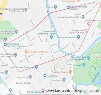 Burnley dispersal order: groups of men hurl abuse at officers