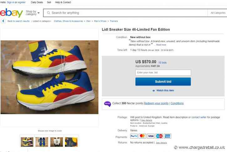 £14 Lidl trainers flood Ebay selling for up to £450