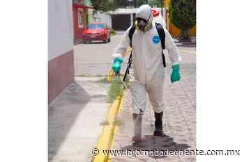 Realiza ayuntamiento de San Andrés Cholula jornada de sanitización en San Rafael Comac - Puebla - Capital y Conurbados - La Jornada de Oriente