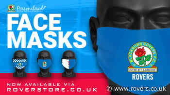 Rovers branded face masks remain available via the Roverstore