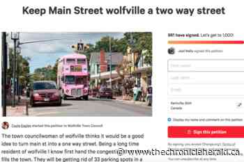 Online petition against Wolfville's one-way Main Street plan gaining momentum - TheChronicleHerald.ca