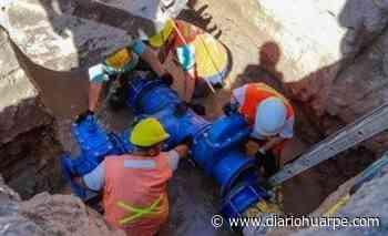 Santa Lucía: empalmarán un caño de agua potable en la zona norte - Diario Huarpe