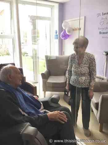 Chislehurst care home residents enjoy visitor-pod reunion