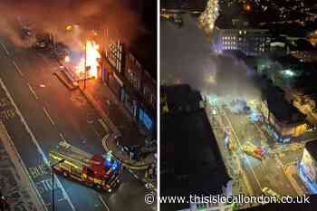 Man rescued from burning launderette in Croydon High Street