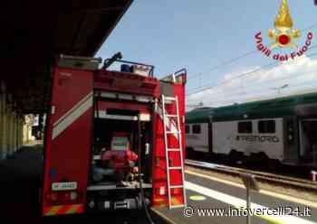 Novara, paura in stazione: principio di incendio su un treno - InfoVercelli24.it