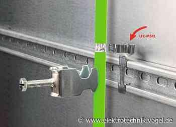 EMV-Schirmklammern zur Montage auf C-Schienen