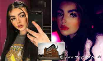 The 18-year-old bar worker hanged herself in the hotel after writing farewell letters on her cell phone
