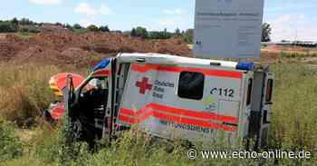 Schwerer Unfall mit Rettungswagen auf der B38 bei Rossdorf - Echo Online