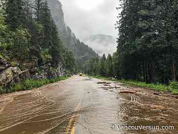 Flooding causes mudslides, washes out B.C. highways, roads