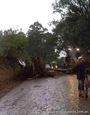 Temporal destelha propriedades e causa estragos no interior de Marau - Acontece no RS